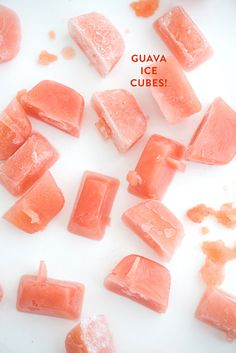 Guava Ice Cubes
