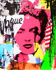 Canvas painting Wall Art Picture Wall poster decoration for living room prints Artist Frida Kahlo on canvas home decorno frame Frida E Diego, Frida Kahlo Diego Rivera, Cuadros Pop Art, Illustrations, Illustration Art, Tableau Pop Art, Poster Decorations, Art Visage, Mexican Artists