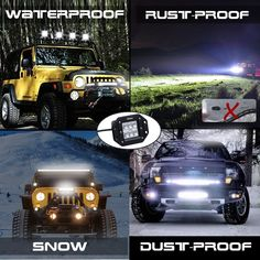 45 best off road led lights images on pinterest led light bars nilight 2pcs 18w flood led work lights jeep light bar off road light led light bar aloadofball
