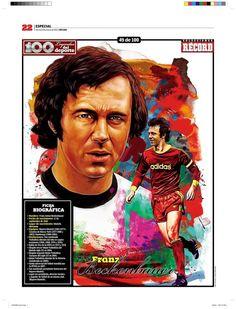 Franz Beckenbauer 100 Leyendas del Deporte / 100 Sports Legends by Jesús R. Sánchez, via Behance