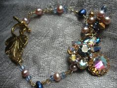 Vintage Aurora Borealis Rhinestone by AtticAntiquesVintage on Etsy, $36.00