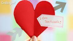 Craftingeek*: Tarjeta Express de San Valentin: Corazon Flechado