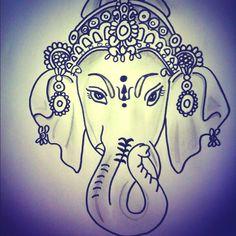 india elephant Sketch