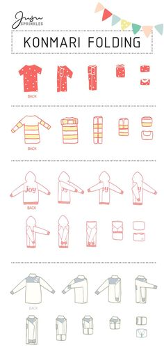 """Now that I have KonMari-ed all my clothes, how do I fold them correctly?"" I am sure I am not the only one with this question. If you have seen my 10 illustrations that summarize the … organization Everything You Ever Need To Know About KonMari Folding Organisation Hacks, Storage Organization, Clothing Organization, Clothes Storage, Bathroom Organisation, Diy Clothes Drawer Organizer, Organizing Ideas, Bedroom Organization Tips, Storage Ideas"