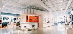 """Nike is testing a host of tech-driven shopping features at a new store in Los Angeles, as part of the sports brand's major plans to """"disrupt"""" retail. Creative Design Agency, Concept Shop, Retail Concepts, Nike Store, Retail Design, Store Design, Interior Design, Shopping, Tents"""