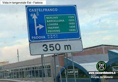 Il fatto è che esiste davvero, non è un fotomontaggio!  #bastardidentro #cartello #indicazione #strada