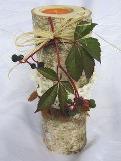 Kerzenständer - Kerzenständer Birke - ein Designerstück von mARgriTs-Atelier bei DaWanda