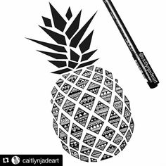 Easy pineapple drawing minimalist drawing pineapple collection of designs easy pineapple drawing step by step Kritzelei Tattoo, Doodle Tattoo, Doodle Art Drawing, Mandalas Drawing, Zentangle Drawings, Pencil Art Drawings, Zentangle Patterns, Drawing Sketches, Doodle Doodle