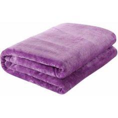 Ottomanson Comfy Soft Touch Velvet Plush Polyester Throw Blanket, 49 inch x 61 inch, Purple