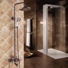 """Oil Rubbed Bronze 8"""" Rainshower & Tub Spout System Shower Set #ShowerSystemswithRainShowerHeadHandshower"""