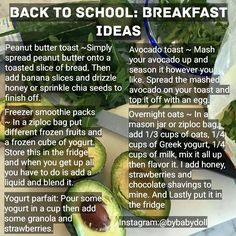 Avocado and egg toast sounds yummy. High School Hacks, Life Hacks For School, School Tips, Healthy Meal Prep, Healthy Drinks, Healthy Eating, Healthy Food, Stay Healthy, School Breakfast