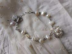 Wedding Bracelet Bridal Charm Bracelet Swarovski by JoieLaVie, $47.00