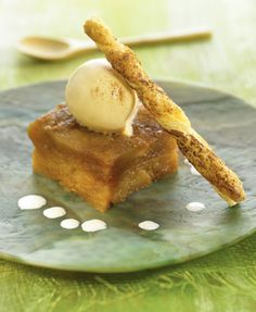 Apple Tarte Tatin with vanilla ice cream,Chef Stephane Poussardin ¦ Delicooks
