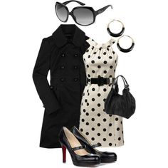 Polka Dots -  Super cute & reminds of Jackie O or Audrey Hepburn...shoes, I don't love though!