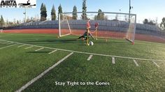 """Drill: Across the Goal Figure 8's  Things to Remember: 1. Stay tight to the cones & keep your shoulders square to the server at ALL Times  2. Work on your """"Lateral Power Movements"""" 3. Drive your body low and Push that Bottom Hand Out  #progkacademy #goalkeepers #goalies  #goalkeeper #futbol #soccer #follow4follow  #like4like #followforfollow #torwart #aviatasports #aviata #teamaviata  @aviatasports @armando_quezada @goalkeepersturf @goalkeeperss @lukegkturf @dailygoalkeeper"""