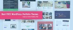 Create a beautiful online portfolio and showcase your portfolio using one of these free WordPress portfolio themes - templates for artists,photographers etc.