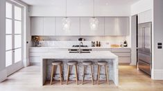 this Kitchen layout exactly! The Most Drop-Dead-Gorgeous Kitchens You've Ever Seen via Kitchen Living, New Kitchen, Country Kitchen, Kitchen With Pantry, Vintage Kitchen, Kitchen Interior, Kitchen Decor, Cuisines Design, Küchen Design
