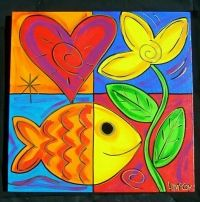 heart paintings - Google Search