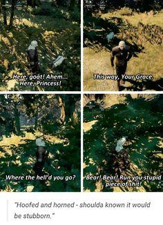Haha oh Geralt http://the-witcher.tumblr.com/
