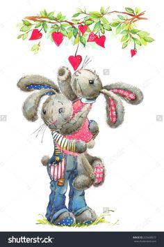 stock-photo-cute-bunny-rabbit-watercolor-bunny-rabbit-and-valentine-heart-illustration-valentines-day-225608977.jpg (1064×1600)
