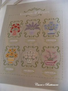 INSTANT DOWNLOAD Giardino d'Estate PDF cross stitch patterns Cuore e Batticuore by thecottageneedle