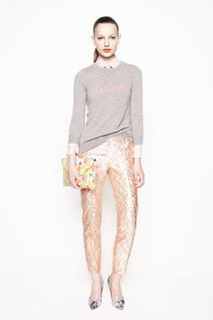 J Crew spring 2013 via @Joy Cho - I can't decide whether the sweater or the bag would be my first pick!