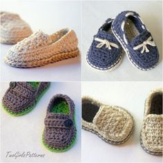Lil loafers -  Etsy listing at https://www.etsy.com/listing/166864700/crochet-pattern-baby-boy-lil-loafers
