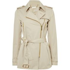 Michael Kors Zip Detail Trench Jacket