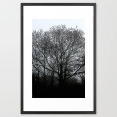 The trees of the mind are black. ' Framed Art Print #artprint #treeart #tree #tree_magic #society6