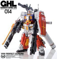 Custom Build: MG Perfect Gundam Featured] Gundam Astray, Gundam Mobile Suit, Unicorn Gundam, Gundam Custom Build, Facebook Features, Gunpla Custom, Custom Action Figures, Mini Paintings, Custom Decals