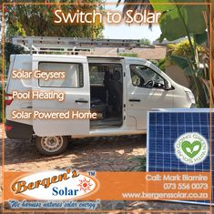 We supply and install solar geysers as well as solar pool heating and solar powered homes systems. Let us get you connected. We are in your area and only one call away. #poweredbysolar #solarpower #bergens #solar #solarsolution #solarrepairs #solarmaintenance #southafrica #solargeyser #tracingwires #poolheating #solarpoolheating #solarsolution #power #bergenssolar #gogreen #summervibes #quote #weharnessnaturessolarenergy #goinggreen #environmentallysafe 073 556 0073 Email: mark@bergens.co.za