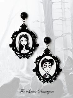 Gothic victorian stud earrings 'The Corpse by SpiderStratagem, €18.00