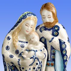 Polish Pottery Boleslawiec Nativity Set...so want this since we or easy have a hand sewn nativity set from Poland