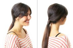 7 Hairstyles You Can Do in 10 Minutes Flat: Wrap hair around base of pony tail