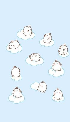 Molang clouds wallpaper