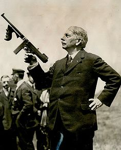 John Thomson, inventor of, yes, the Tommy gun.