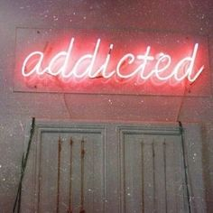 im addicted to you Neon Light Art, Neon Light Signs, Neon Signs, Neon Aesthetic, Quote Aesthetic, Neon Quotes, Neon Words, All Of The Lights, Neon Glow