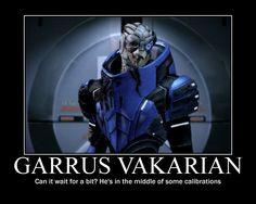 No Garrus in can fu*king not wait