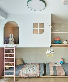 KIDS BEDROOM: Hao He.tw creates a space that dreams are made of. A secret passag… KIDS BEDROOM: Hao He.tw creates a space that dreams are made of. A secret passage disguised by a little pink door leads to this open and spacious bedroom-wonderland.
