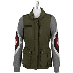 Maison Scotch Women's Contemporary Sweater Sleeve Military Jacket #VonMaur