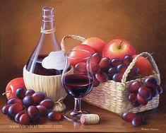 Wine With Fruit Painting by Varvara Harmon