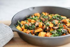 Potato, Mushroom and Kale Hash Skillet | Vegan | Gluten-Free