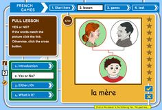 French games : fun learner games for kids and adults learning French – free website. yes/no, either/or sequencing of input activities French Language Lessons, French Language Learning, French Lessons, Learn French Free, How To Speak French, Learning Web, Ways Of Learning, Learning Piano, French Teacher