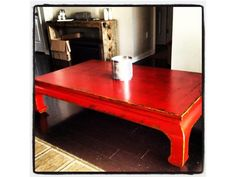 Stunning Crimson Red Coffee/Living Table (FOUR HANDS) - $300 - Occasional Tables: Austin