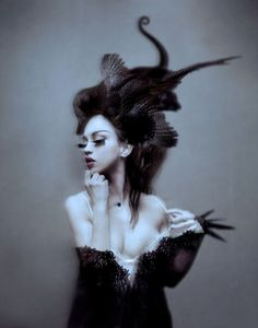 Gothic Raven Photography - Natalie Shau 'Fashion Works' Moves Away from Typical Digi-Art Raven Photography, Fashion Photography, Portrait Photography, Gothic Photography, Conceptual Photography, People Photography, Photography Portfolio, Artistic Photography, Amazing Photography