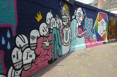 Graffiti straatje - Gent
