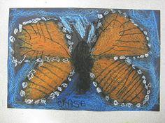 Kgtn: Monarch Butterflies with Oil Pastel
