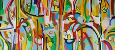 """Abstract Art """"Blazing Forms"""" by A. Kalla"""