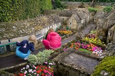 "Bourton-on-the-Water is a village and civil parish in Gloucestershire, England that lies on a wide flat vale within the ""Cotswolds Area of O. Bourton On The Water, Model Village, Water Modeling, Outdoor Furniture Sets, Outdoor Decor, Little Houses, The Good Place, Places To Visit, Garden"