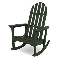 Stunning Outdoor POLYWOOD Classic Bimini Recycled Plastic Adirondack Rocking Chair ADRCGY